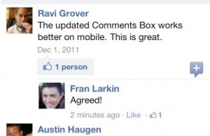 Facebook Comments mobile