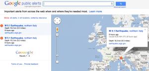 Google alerte publique