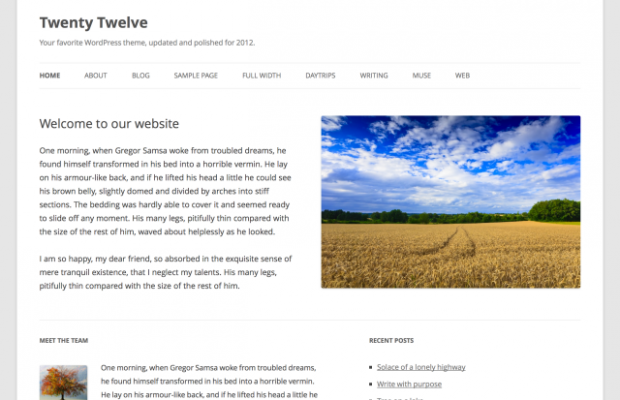 twenty-twelve-wordpress