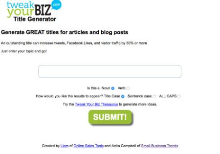 générateur de titre blog
