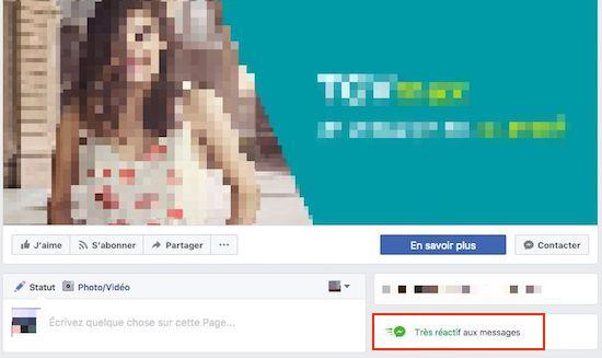 Badge Très réactif aux messages Facebook