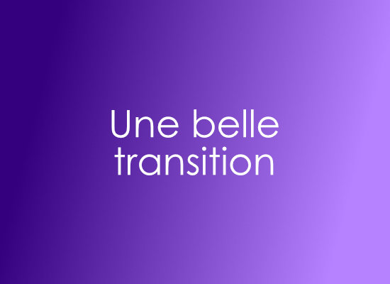 Utiliser une image comme transition