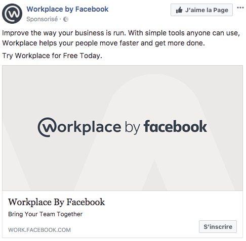 Visuel sur Facebook