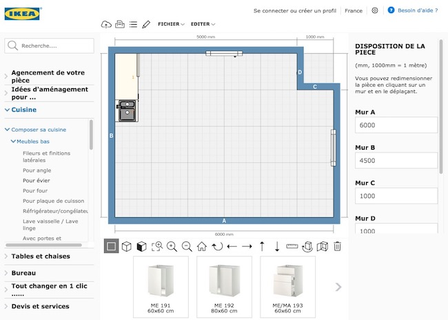 outil conception cuisine Ikea