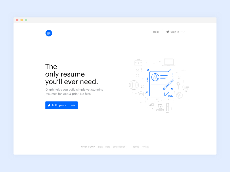 Web design blanc