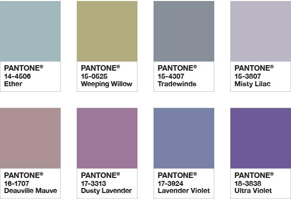 palette de couleurs pantone ultraviolet