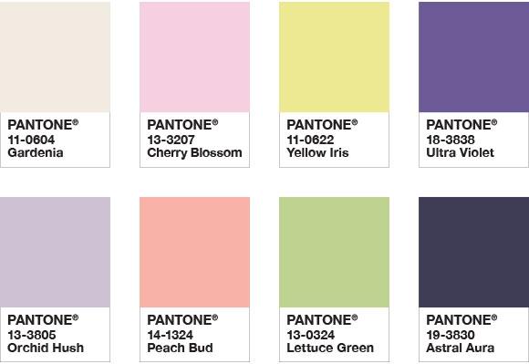 palette de couleurs pantone ultraivolet