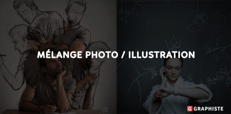 mélange de photo et d'illustration