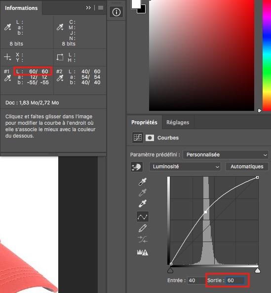 changer la couleur d'un objet photoshop