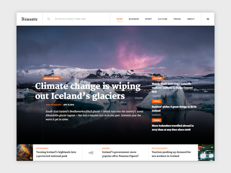 design site d'actualité