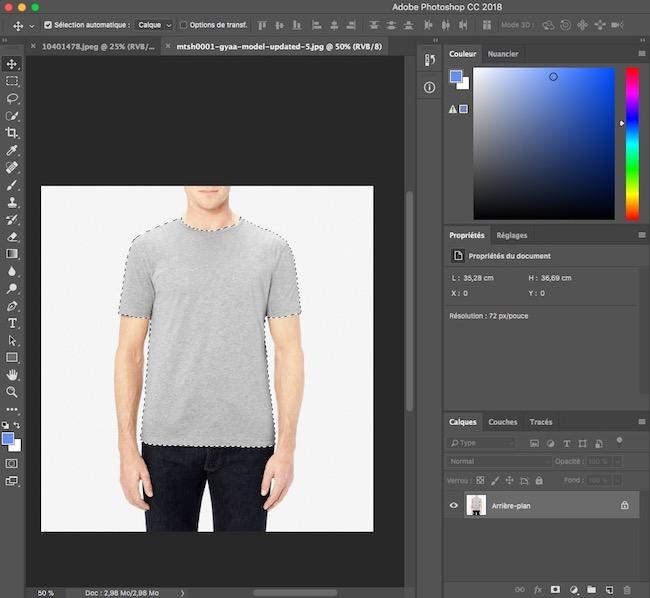 détourer un vêtement sur photoshop