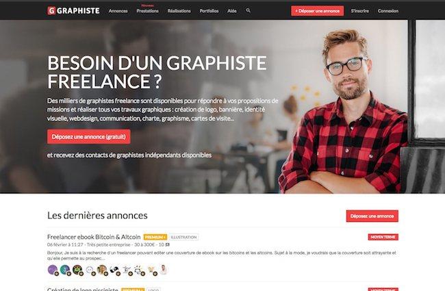 page d'accueil graphiste.com