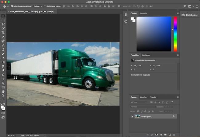 intégrer un logo en perspective dans Photoshop