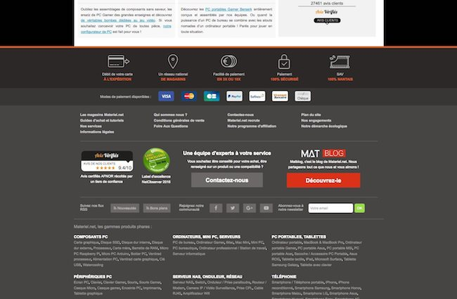 footer e-commerce