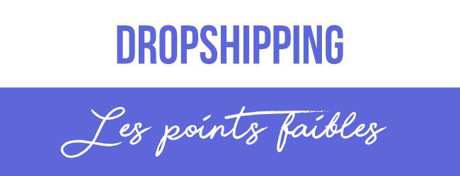 inconvénients du dropshipping