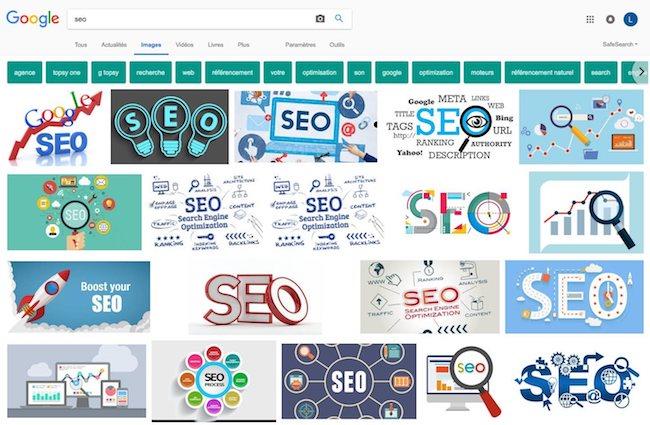 référencement sur google images