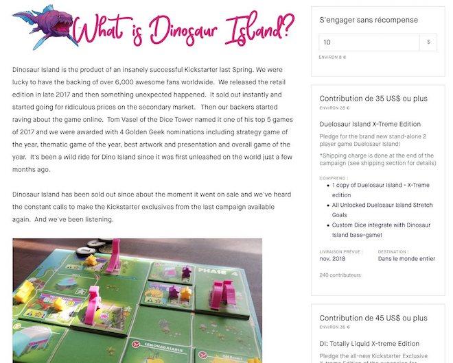 design d'une page de crowdfunding