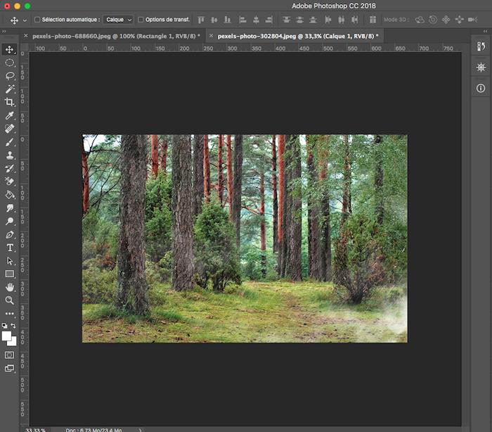 utiliser un overlay dans photoshop