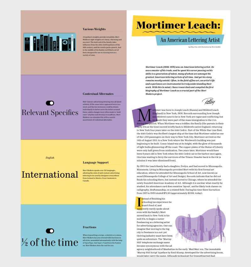 site one-page Mort Modern