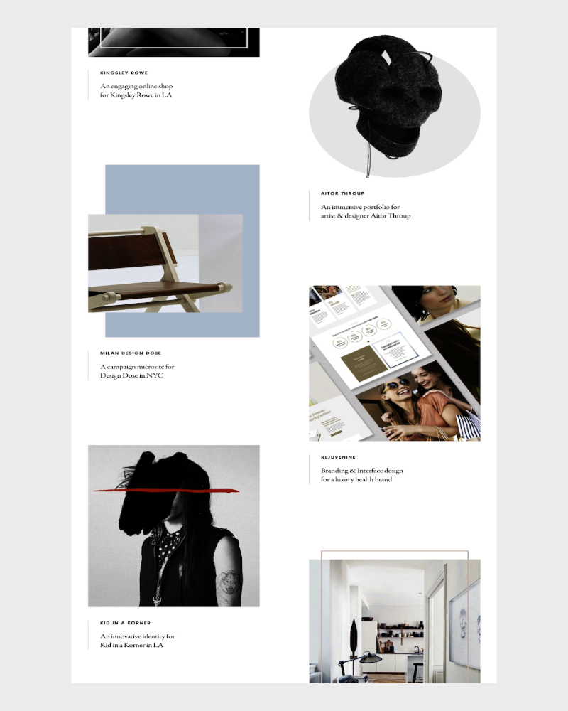 site one-page agence Pollen