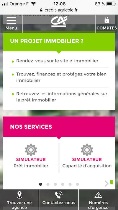 site mobile crédit agricole