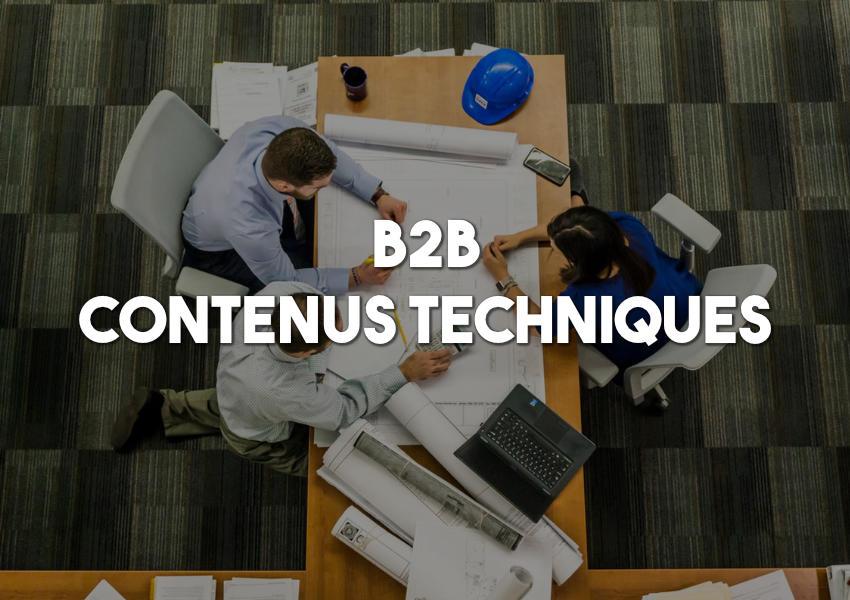 contenus techniques b2b