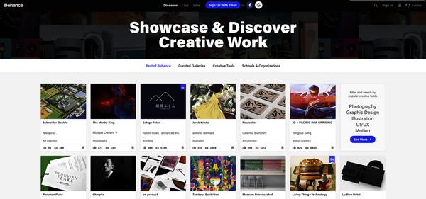 Behance, réseau social créatif