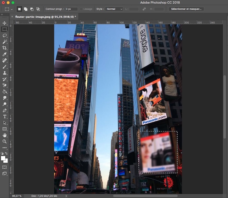 flouter une partie d'une image avec Photoshop