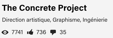 Tags pertinents pour un projet portfolio Behance