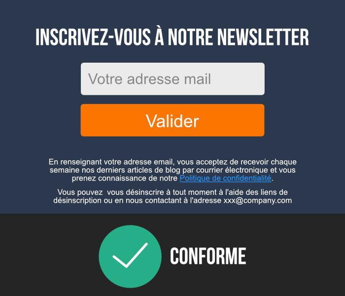 formulaire mail conforme rgpd