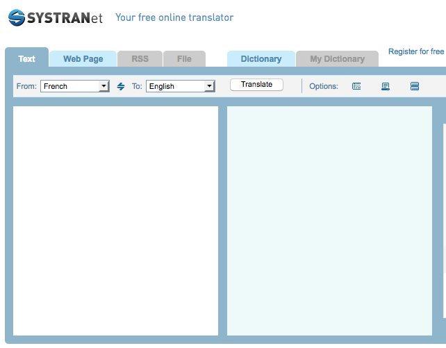 Systran, traduction gratuite en ligne