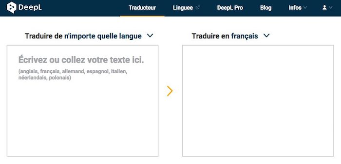 DeepL, traduction gratuite en ligne