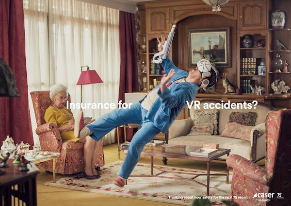 Affiche publicitaire assurance