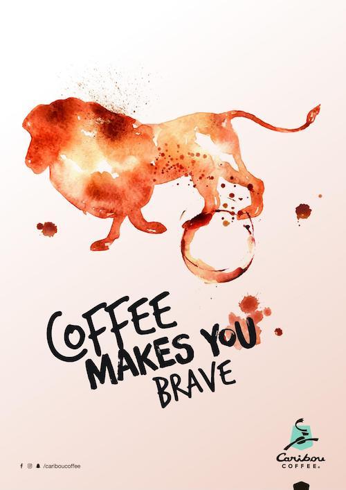 Affiche publicitaire Caribou Coffee