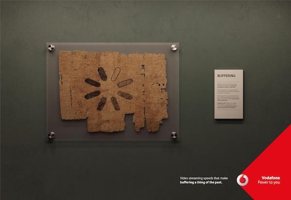 Affiche publicitaire Vodafone