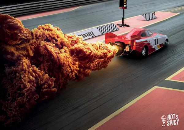 Affiche publicitaire KFC