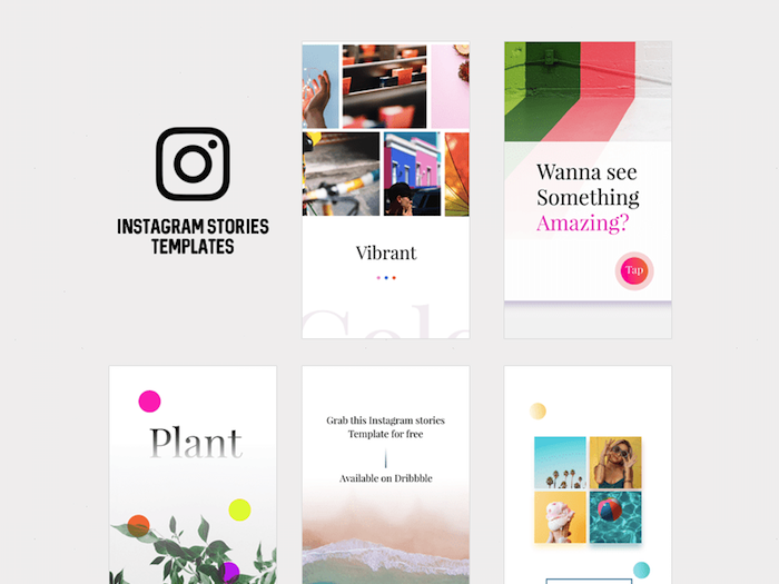 template de stories instagram
