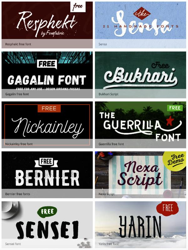 Typographie créative originale