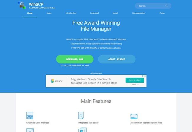 client ftp winscp
