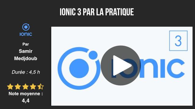 formation développement ionic 3