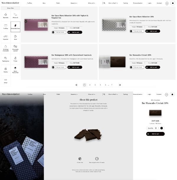 Site e-commerce chocolat