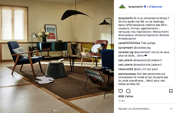 Collection produits Instagram