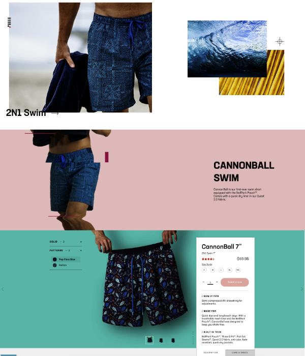 Boutique en ligne couleurs