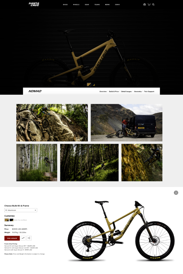 Site e-commerce Santa Cruz