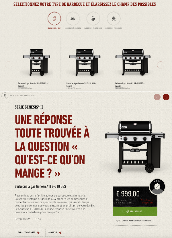 Site ecommerce barbecue