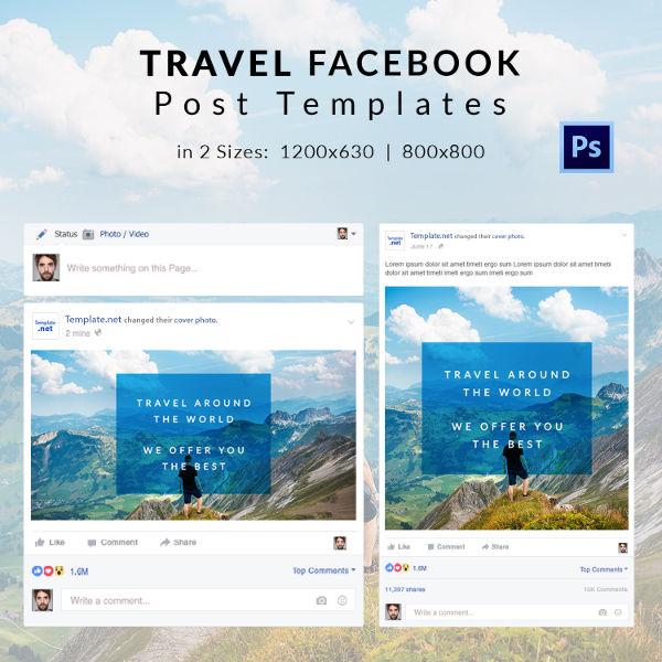 template publication facebook