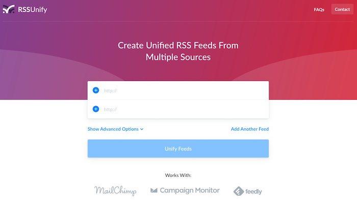 fusionner des flux rss avec rssunify