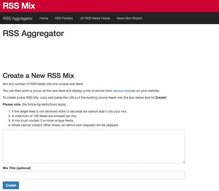fusionner des flux rss avec rssmix