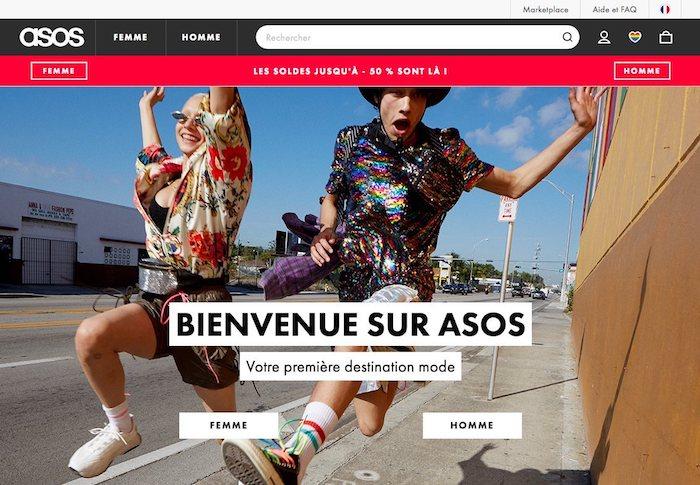 bandeau publicitaire sur un site ecommerce