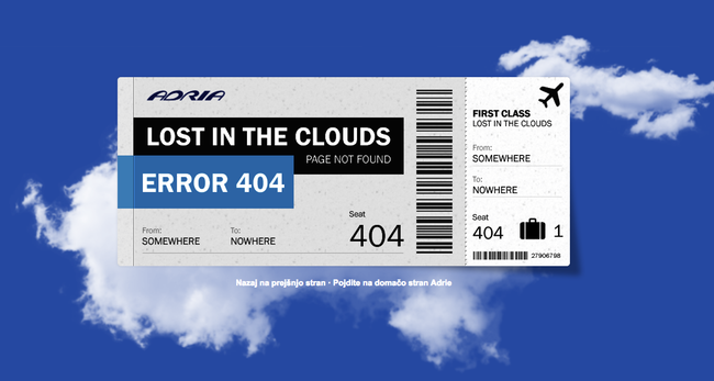 Erreur 404 avion
